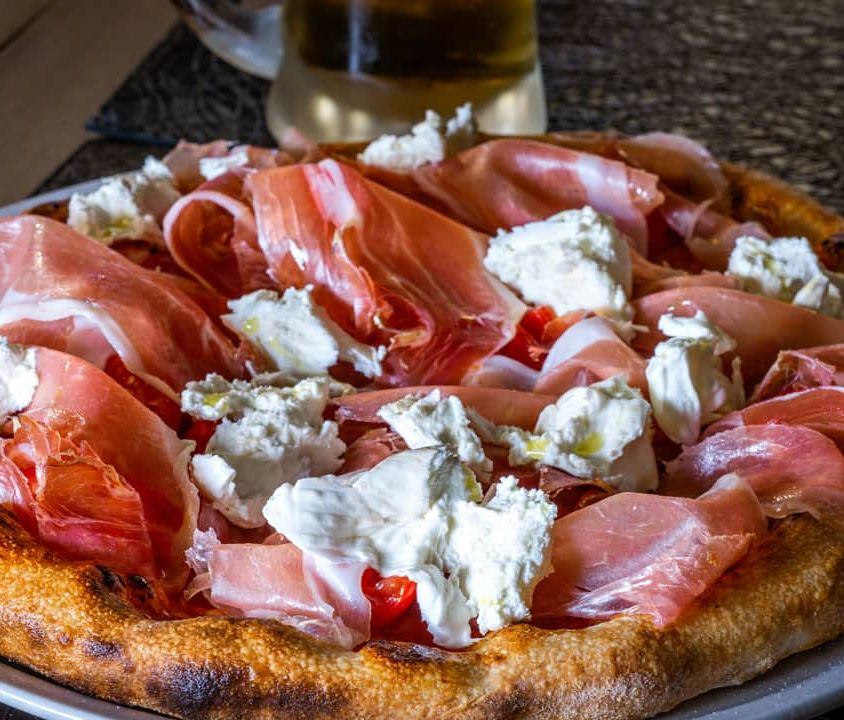 Pizza Lulli Burrata di Bufala and Parma Ham 30 months