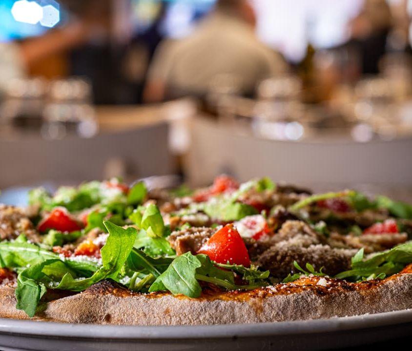 Pizza Rucola, Porcini e Parmigiano