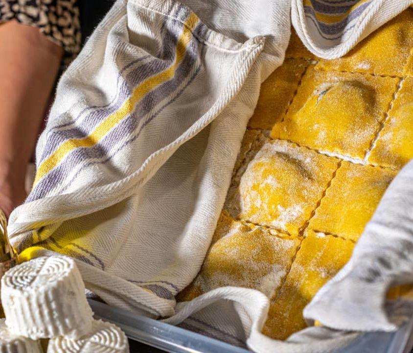 Ravioli Ricotta e Spinaci Fatti in Casa con Semola BIO