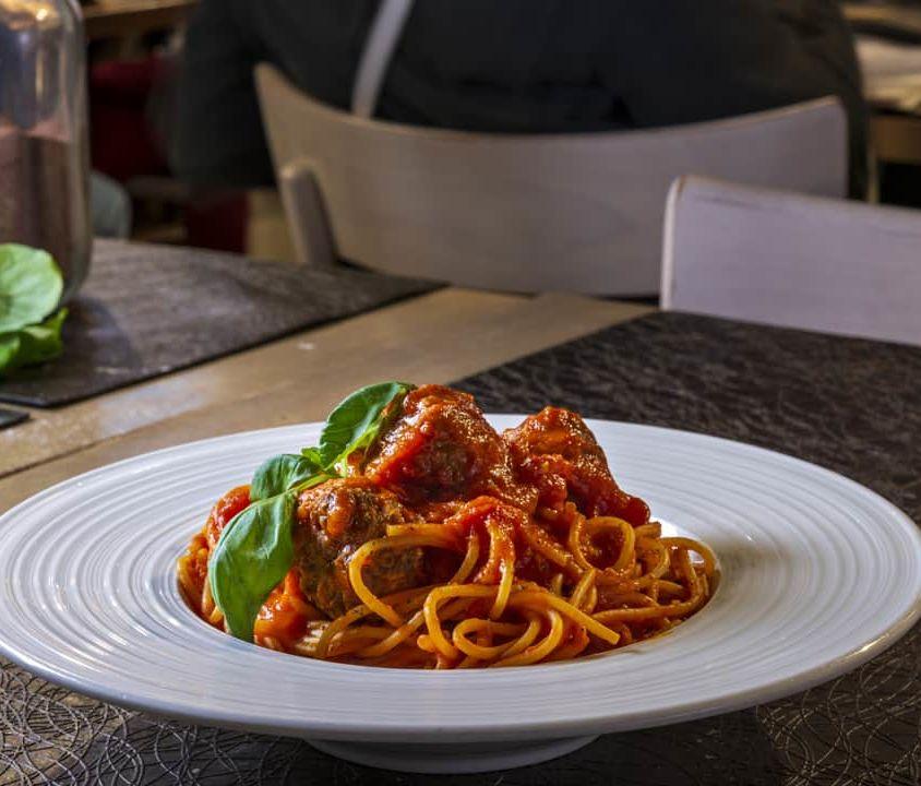 """Spaghetti """"Felicetti"""" al Sugo, con Polpette di Macinato BIO"""